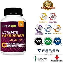 ULTIMATE FAT BURNER - Quemagrasas   Termogénico   Reductor y Saciante del Apetito   Estimulante del Metabolismo   Fórmula Adelgazante Exclusiva y Eficaz   Ingredientes Naturales - 90 Caps.