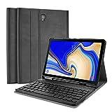 ProCase Tastiera Custodia per Galaxy Tab S4 10.5(UK Layout), Smart Slim Pelle PU Cover con Rimovibile Wirless Tastiera Magnetica per Samsung Galaxy Tab S4 10.5 Pollice(SM-T830 T835 T837) -Nero