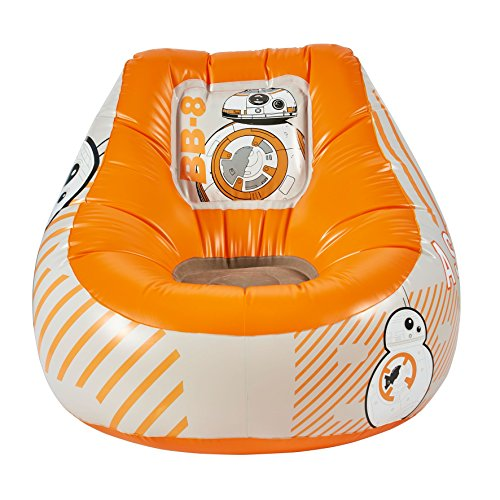 Star Wars 289SAA Aufblasbarer Sessel mit BB-8-Motiv, Holz, orange, 60 x 78 x 78 cm