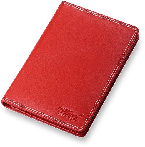 Organizzatore per documenti aziendali Custodia in pelle, rosso (Nero) - 214