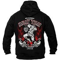 Dirty Ray Artes Marciales MMA Muay Thai sudadera hombre con capucha B9C (XXL)