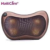 Coussin Massage Shiatsu, HailiCare Masseur Oreiller avec Fonction Chauffante avec 4 Boules de Massage pour Dos Cou Nuque Epaules Ventre Jambes au Domicile Bureau en Voiture