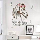 Wandaufkleber Bunte Pferd Abnehmbare Vinyl Aufkleber Wandbild Wohnkultur Wandaufkleber hausgarten küche zubehör dekorative aufkleber wandbilder