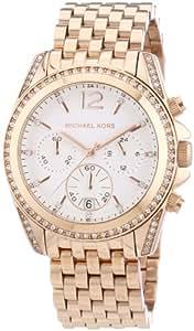 Michael Kors Damen-Armbanduhr Chronograph Quarz Edelstahl beschichtet MK5836