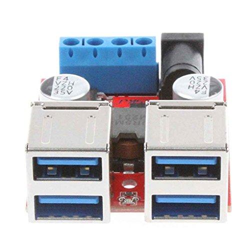 Yiruy 8 V-35 V zu 5 V 8A 4-Port USB Ladegerät Netzteil Modul Step-down Buck Spannung Modul für Handys Auto