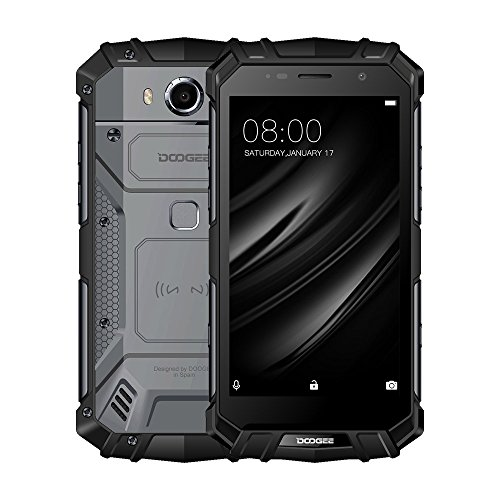 DOOGEE S60 4G Smartphone 6GB RAM 64GB ROM Android 7 0 Helio P25 2 5GHz Octa Core 21 MP 8MP C  mara 12V2A NFC  OTG  GPS  tel  fono resistente Impermeab