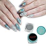 BBsmile Espejo Holográfico Nail Art Glitter Powder Arco iris Chrome pigmento polaco