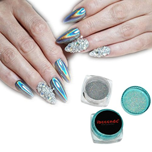 BBsmile Espejo Holográfico Nail Art Glitter Powder