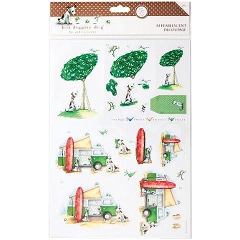 HOT Diggity Dog-Carta per Decoupage in formato A4, ideale per esterni, HOT 169104) - Diggity Dog Toy