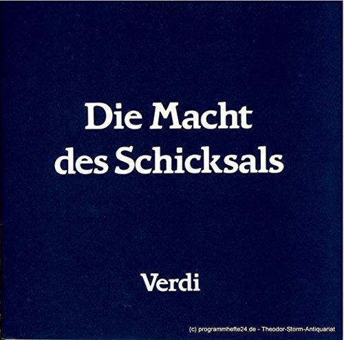 Programmheft Die Macht des Schicksals. Oper von Francesco Maria Piave. Premiere 2.5.1986. Heft 9 Spielzeit 1985 / 86
