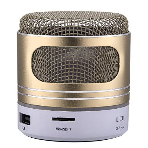OPAKY Mini-Bluetooth-Lautsprecher USB-LED-Licht Wireless Wireless Music Box Subwoofer für iPhone, Samsung usw.