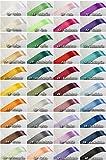 Jajasio Satin Schrägband 25mm breit in 40 Farben, Satin Einfassband Nahtband/Farbe: 24 - rot