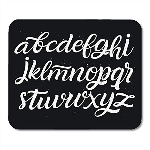 Mauspads Hand Free Style Script Schrift und Schrift für Designs Logotype Calligraphic Characters Cursive Mauspad für Notebooks, Desktop-Computer Matten Bürobedarf -