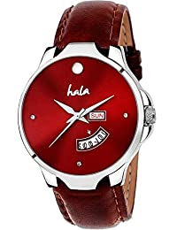 Hala 1140-BL Red Day and Date Day and Date Watch - Men