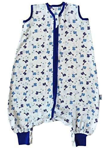 Produktbild Schlummersack Schlafsack mit Füßen aus Bambus-Musselin für den Sommer ungefüttert in 0.5 Tog - Dinosaurier- 6-12 Monate / 70cm