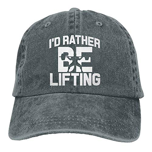 errterfte Men and Women I\'d Rather Be Lifting Weight 1 Vintage Jeans Baseball Cap Asphalt Personalized Hat Comfortable Adjustable