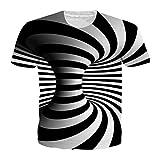 3D T Shirt Männer Frauen Whirlpool Drucken Lustige Top Hip Hop T-Shirt Homme 2 XXL