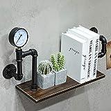 Health UK Shelf- Loft Retro Wasserpfeife Rack Rahmen Eisen Bücherregal Wohnzimmer Schlafzimmer Wandrahmen Massivholz Trennwände Wandregale welcome (größe : 1-layer)