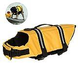Dog Life mit verstellbarem Gürtel, für Haustiere, mit Saver Erhalter Schwimmweste für Hunde, mit Weste, für Schwimmen, Bootfahren, die Jagd