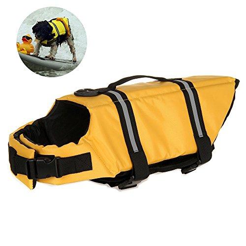 Dog Life mit verstellbarem Gürtel, für Haustiere, mit Saver Erhalter Schwimmweste für Hunde, mit Weste, für Schwimmen, Bootfahren, die Jagd -