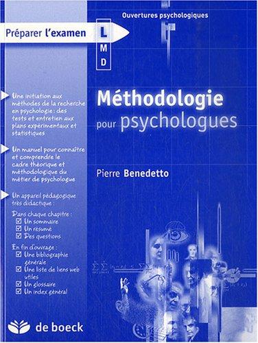 Méthodologie pour psychologues
