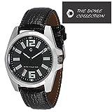 Octane Black analog display men's watch
