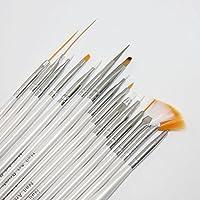 Set da 15 pz. di pennelli per la ricostruzione delle unghie Pennelli di acrilico per gel pennelli per ili modellaggio delle unghie finte Marchio MyBeautyworld24