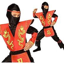 Ninja sigiloso dragón rojo Disfraz Carnevale