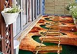 Yosot 3D Bodenbelag Fototapete 3D Pvc Bodenbelag Wasserdicht Für Wohnzimmer Bodenbelag -450Cmx300Cm