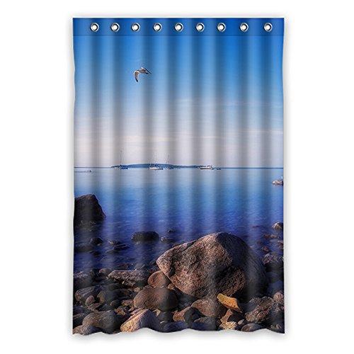 Einmal Young Chalet, Sonne, Schnee Mountain Duschvorhang Polyester Badezimmer Wasserdicht Decor, Mehltau, ungiftig 121,9x 182,9cm (120x 183cm), Polyester, K, 48