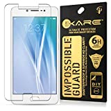 Vivo V5 Tempered, iKare Impossible Fiber Tempered Glass Screen Protector for Vivo V5 (REUSABLE, ULTRA CLEAR, REAL SHOCK PROOF, UNBREAKABLE)