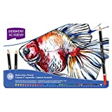 Derwent 2300226 Academy Watercolour Pencils Tin, Watersoluble Colours - Pack of 36