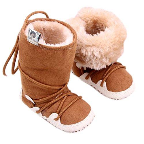 Leap Frog Meados Culf Botas De Neve, Bebé Rastejando Sapatos E Puschen Marrom