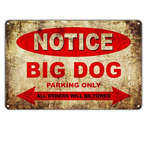 ice Big Dog Motorcycles Parking Only Lustiges Wandzeichenmetall kunstbrett-Dekorationsplakat ()