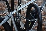 ABUS Faltschloss Bordo Alarm 6000A Fahrradschloss inkl. Alarmfunktion (100 db) - Sicherheitslevel 10 - 90 cm lang - kompakt - inkl. Halterung - schwarz - 77838