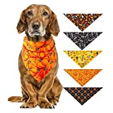 dianqin14 Pet Halloween Christmas Saliva Neckerchief Collar Towel Bandana Drool Bibs Scarf Dogs Costume Accessory For Puppy Cats Dogs Triangular Scarf