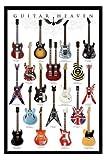 Póster Guitar Heaven–Famosos guitarras de de la Historia de rock–Tamaño 61x 91,5cm–Maxipóster