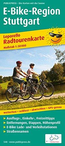 E-Bike-Region Stuttgart: Leporello Radtourenkarte mit Ausflugszielen, Einkehr- & Freizeittipps, Straßennamen, E-Bike-Lade- und Verleihstationen, ... 1:50000 (Leporello Radtourenkarte / LEP-RK)