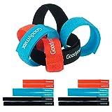 Goodymax® Klettkabelbinder-Set - 12 Stück farbig Orange-Blau-Schwarz - Kabelmanagment durch Kabelbinder mit Klettverschluss - Klettband mit 15, 20, 25 cm Länge