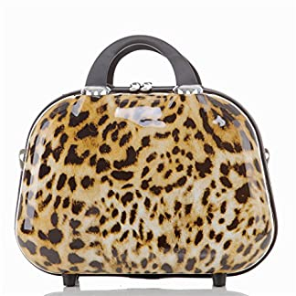 Maleta de viaje 2060,rígida, en 12 motivos, XL, L, M leopardo S(Beautycase)