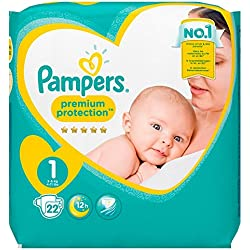 Pampers Premium Protection New Baby Größe 1 (Neugeborene), 22 Windeln