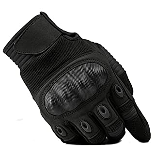 TACVASEN Outdoor Gloves Men Full Finger Gloves Cycling Motorcycle Camping Skiing Glove Motorbike Sports Gloves Black