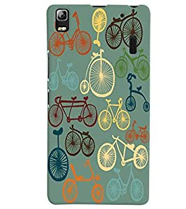 Citydreamz Bicycle Abstract Design Hard Polycarbonate Designer Back Case Cover For Lenovo A7000