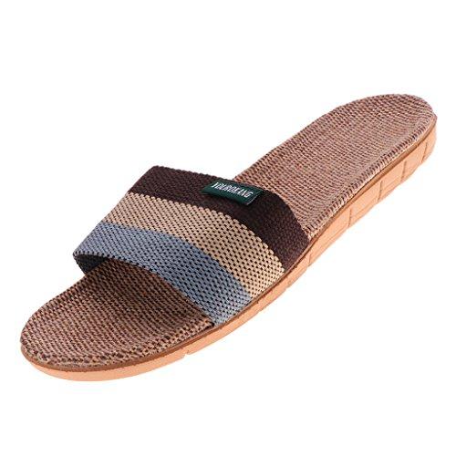 Magideal unisex sandali pantofole scarpe antiscivolo di lino - grigio, 42-43