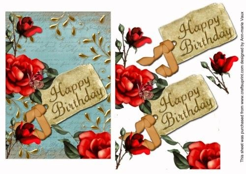 red-tea-rose-teal-happy-birthday-7-x-5in-decoupage-topper-by-ann-marie-vaux