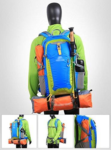 zaino trekking Outdoor Alpinismo borsa tracolla uomini e donne a piedi all'aperto forniture Ultra - Light Leisure Travel Trekking Zaino 40L Zaini da escursionismo ( Colore : Verde ) Blu