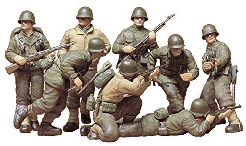 Tamiya 300035048 - set statuette soldati della seconda guerra mondiale, 8 pz., scala 1:35