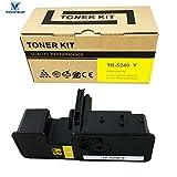 VICTORSTAR @ Cartucho de Tóner Compatible TK5240 / TK-5240 para Impresoras Láser Kyocera ECOSYS P5026cdn / P5026cdw / M5526cdn / M5526cdw (Yellow)