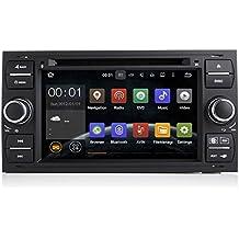7pulgadas en el tablero Android coches reproductor de DVD con GPS navegación TV/BT 3G WIFI, pantalla táctil, USB/SD AUX, radio de audio estéreo, coche PC/Multimedia unidad central para Ford Focus/Mondeo/S-MAX/CONNECT 200520062007