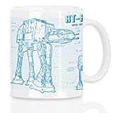 style3 AT-AT Motivtasse blaupause walker